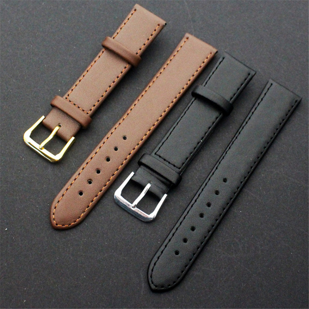 427be919965 Aliexpress.com   Buy Way Deng Women Men Vintage Soft Plain PU Leather Watch  Band Watchbands Two piece Strap Accessories Many Sizes Y038 from Reliable  ...