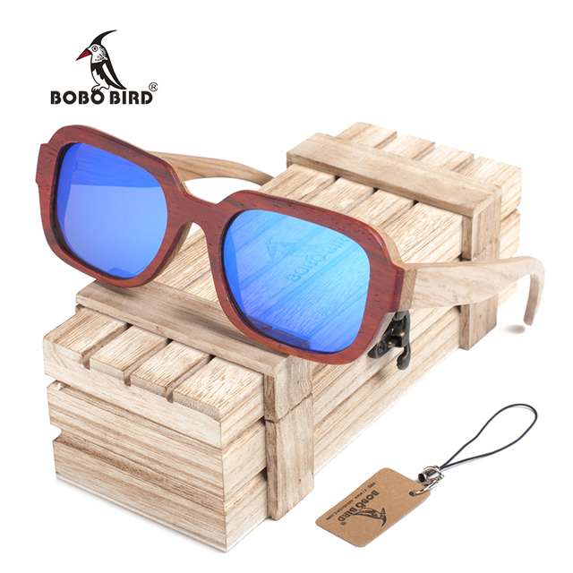 5a053e190f BOBO de AVES DG03 Fresco Gafas De Sol De Madera Madera de Empalme Color Del Marco  Polarizado Gafas de lentes Gafas de Sol para Mujeres de Los Hombres ...