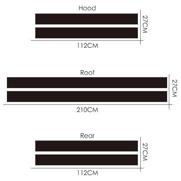Автомобильный Стайлинг двойной ралли гоночный капот загрузки задняя крыша полосы Наклейка виниловая для Mini Cooper R56 R50 R53 F55 F56 F60 R60 R55 - Название цвета: Hood Roof Boot
