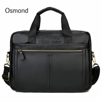 Men's Briefcase Male Genuine Leather bags Messenger Bag Men's Shoulder Bags Travel Black Briefcases Laptop Bag Men for Document