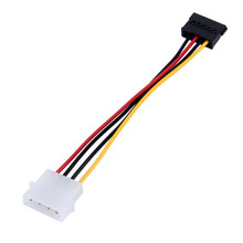 1pcs Serial ATA SATA 4 Pin IDE Molex to 15 Pin HDD Power Adapter Cable Hard Drive Adapter Male to Female Cable Free Shipping