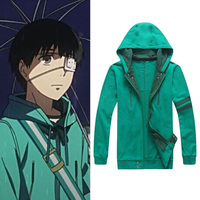Man Cosplay Clothing Sweatshirt Green Hoody Costume Play For Kaneki Ken Clothing In Tokyo Ghoul Wholesale