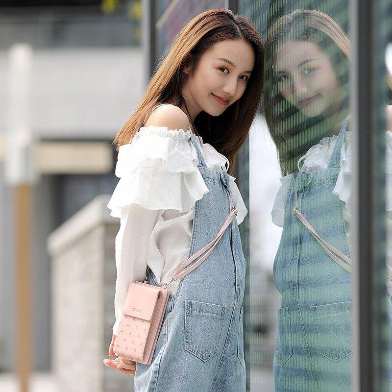 Image 5 - 2019 New Women Casual Wallet Brand Cell Phone Wallet Big Card  Holders Wallet Handbag Purse Clutch Messenger Shoulder Straps  BagWallets