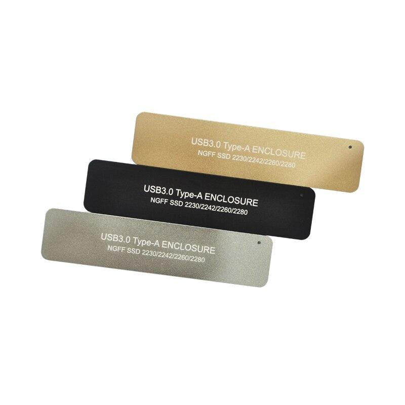 Rétractable interrupteur M.2 SSD SATA Boîtier USB 3.0 à NGFF B clé B + Touche M adaptateur 2280 M2 mini portable Boîte