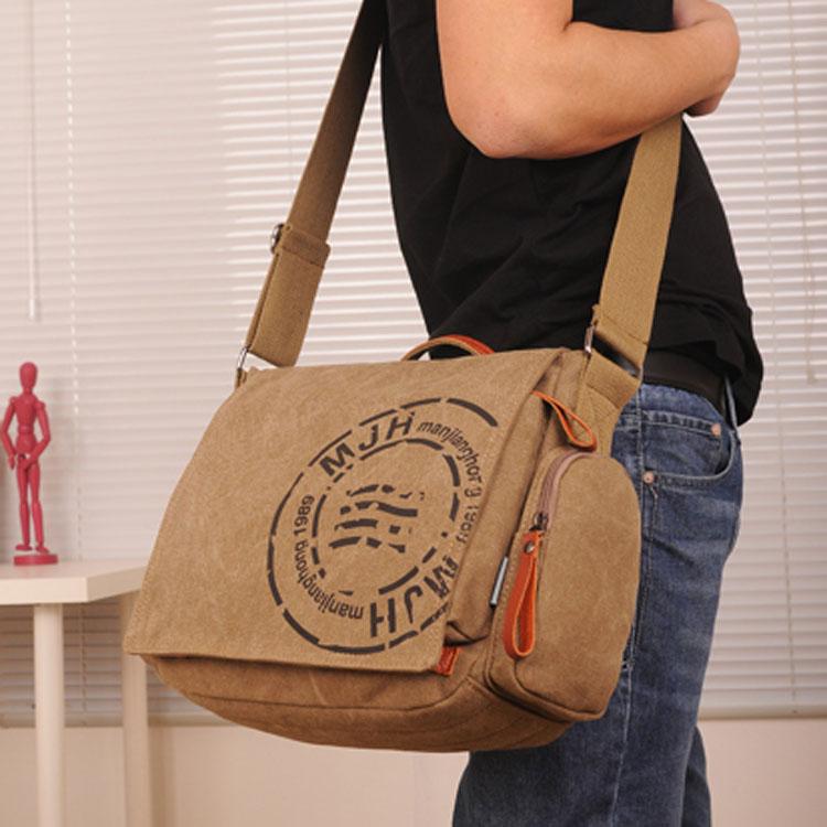 8c3fbd5eae MANJIANGHONG Vintage men s Messenger bag man Handbag Canvas Shoulder  postman Bag Men casual Crossbody Printing Messenger bags-in Crossbody Bags  from Luggage ...