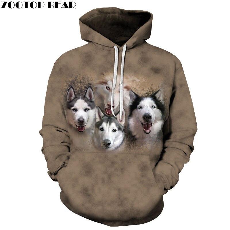 Anime Wolf Sweatshirts Men Hoodies Funny Tracksuit 3D Printing Pullover Autumn Hoody Streetwear Coat Brand Drop Ship ZOOTOP BEAR
