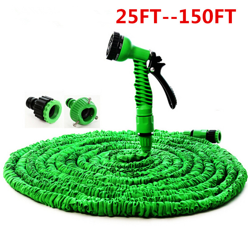 9 Function Spray Gun Red 150ft Expanding Expandable Garden Hose Water Pipe