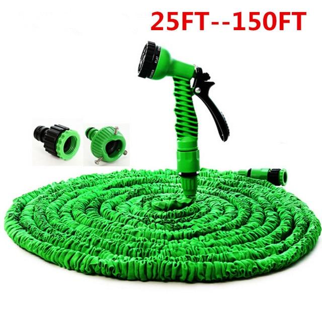 Green u0026 Blue 25FT--100FT Flexible Garden Hose Plastic Magic Extensible Hose For Car  sc 1 st  AliExpress.com & Green u0026 Blue 25FT 100FT Flexible Garden Hose Plastic Magic ...