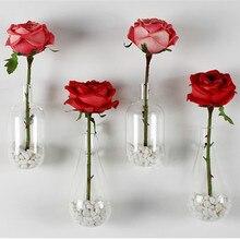 Творческая настенные капель стеклянная ваза украшены современные предметы интерьера мода 2 шт