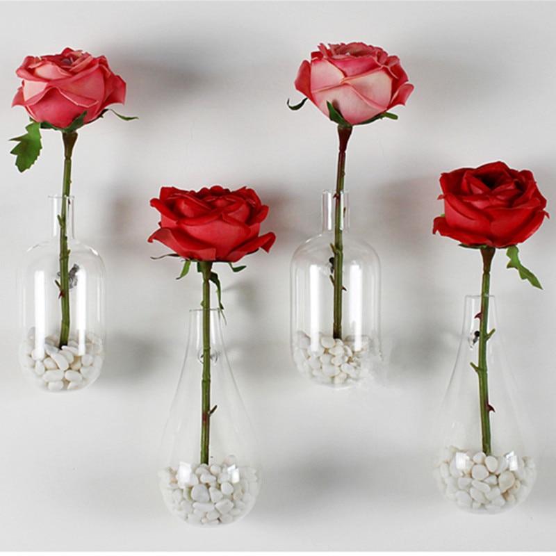 pared creativo gotitas florero cristal decorado moderno muebles para el hogar moda unidschina
