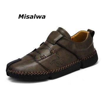 c31b3d39752 Misalwa sobre el tamaño 36-48 zapatillas Unisex para amantes hombres  mujeres blanco Casual malla zapatos mocasines transpirables hombres nuevo  estilo ...