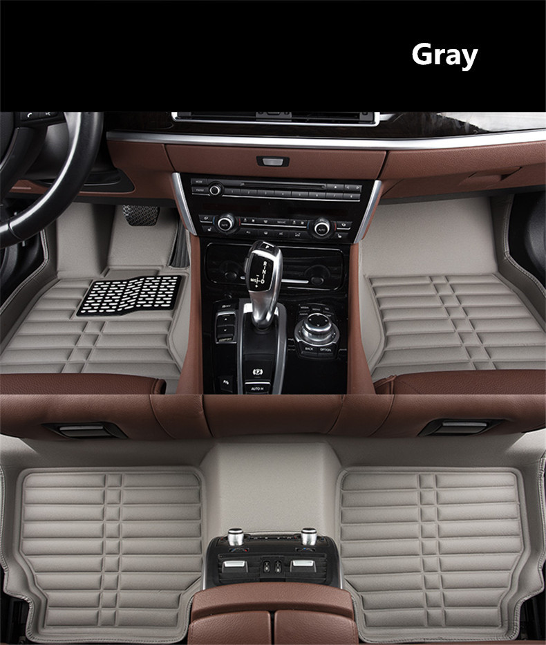 For Peugeot 308 2016.2017.2018 Floor Mats Auto Foot Carpets Step Mat High Quality Water Proof Clean Solid Color