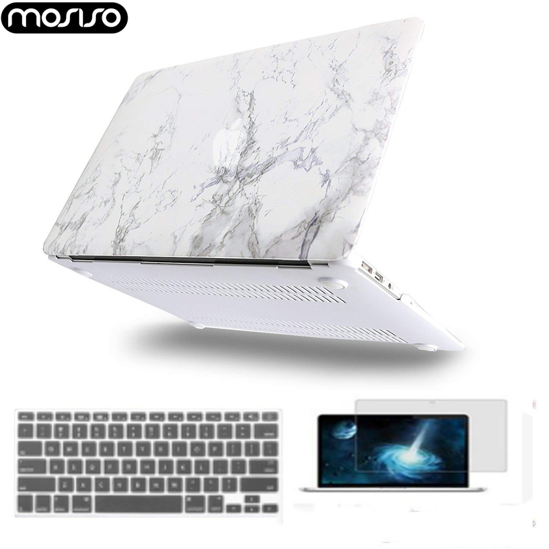 Image 2 - MOSISO 2019 Hot Sale Marble Pattern Laptop Case For Apple MacBook Pro Retina 13 15 Hard Case For MacBook 12 inch +Keyboard Cover-in Laptop Bags & Cases from Computer & Office