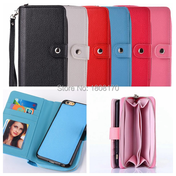 Multifunctional Zipper Wallet Leather Case For Samsung Galaxy S8 Plus S7 S6 Edge S5 NOTE5 Card Slot Strap Phone Cover 30pcs