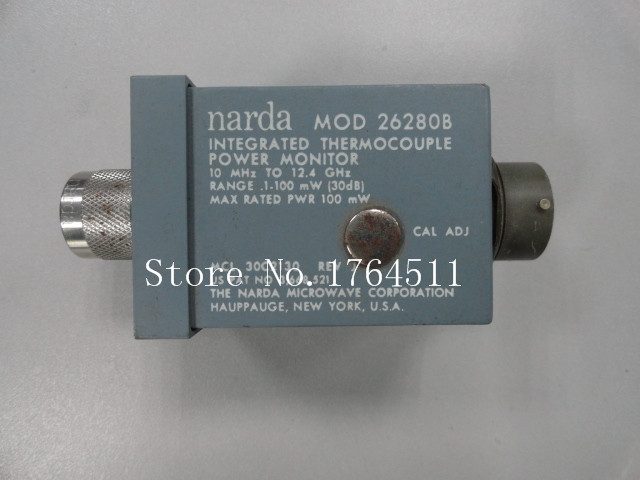 [BELLA] Narda 26280B 10MHZ-12.4GHZ 0.1-100mW (30dB) N Precision Power Probe