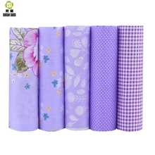 New style Print Flower Cotton Fabric Patchwork Needlework Textile Pattern Sewing Fabrics Doll clothing Tilda Quilt Tissue40*50 allover flower print solid quilt