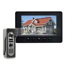 DIYSECUR 600TV Line 7inch Video Intercom Video Door Phone IR Night Vision Outdoor Camera Black 1v1