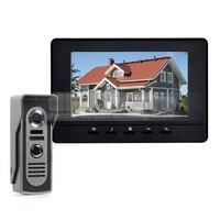 600TV Line 7inch Video Intercom Video Door Phone IR Night Vision Outdoor Camera Black 1v1