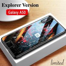 GFAITH For Samsumg Galaxy A50 Case Explorer Version Tempered Glass Protector Cover for Galaxy A50 Cases