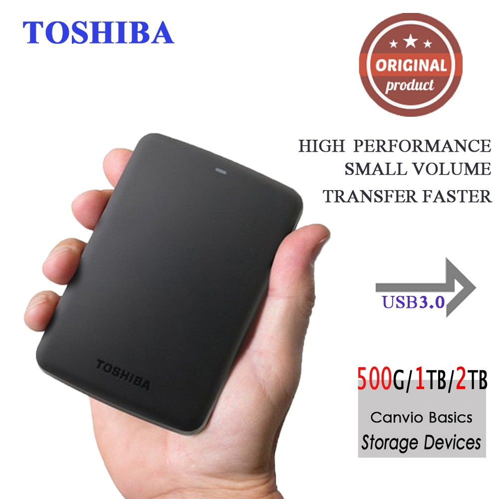 Toshiba Portable External Hard Disk Drive Mobile HDD Canvio Basics USB 3.0 2.5 1TB 2TB Desktop Laptop Computer PC HDTB320YK3CA