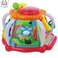 HUILE BRINQUEDOS De Desenvolvimento Do Bebê Brinquedos Do Bebê de Luxo Cubo Atividade Musical Play Center com Luzes, Toneladas de Funções & Habilidades brinquedo de Presente