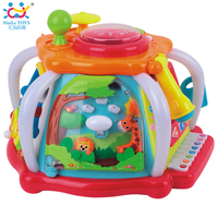 HUILE TOYS 676 Developmental Baby Toys Deluxe Baby Musical Activity Cube Play Center with Lights,Tons of Functions & Skills Toy