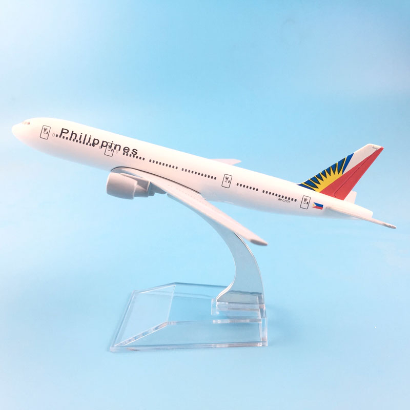 16cm Plane Model Boeing 777 Philippines Airlines Aircraft B777 Metal Simulation Airplane Model For Kid Toys Christmas Gift