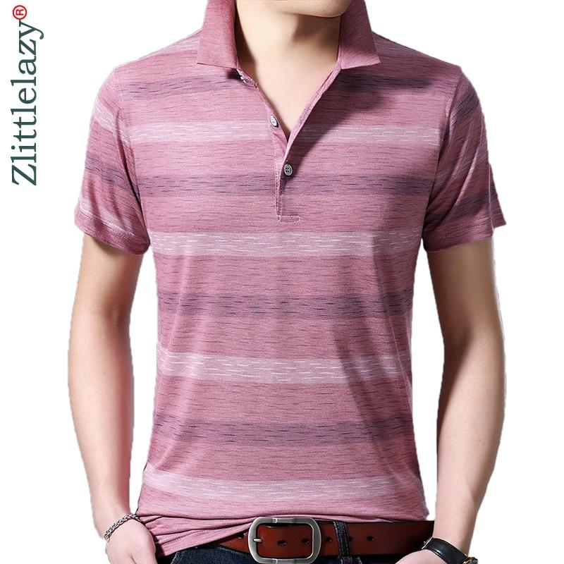 2019 Marke Casual Sommer Gestreiften Kurzarm Polo Shirt Männer Polo Jersey Luxus Herren Polos T-shirts Kleid Fashions 42201