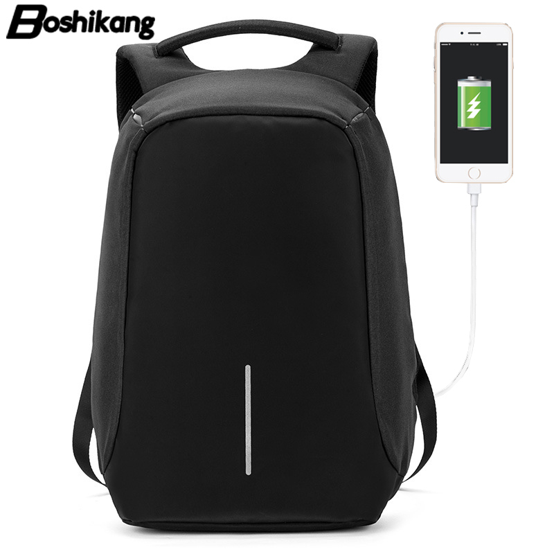 Boshikang usb chargering Men Backpack Oxford Backpack for Male Laptop Notebook 15.6inch School Backpack boshikang men laptop backpack man oxford classic business backpack male brand fashion travel bag leisure school bag for teens