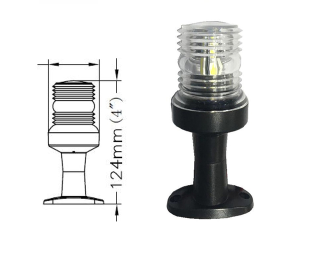 12 فولت مركبة بحرية LED أضواء الملاحة 360 درجة كل مصباح أبيض مرساة
