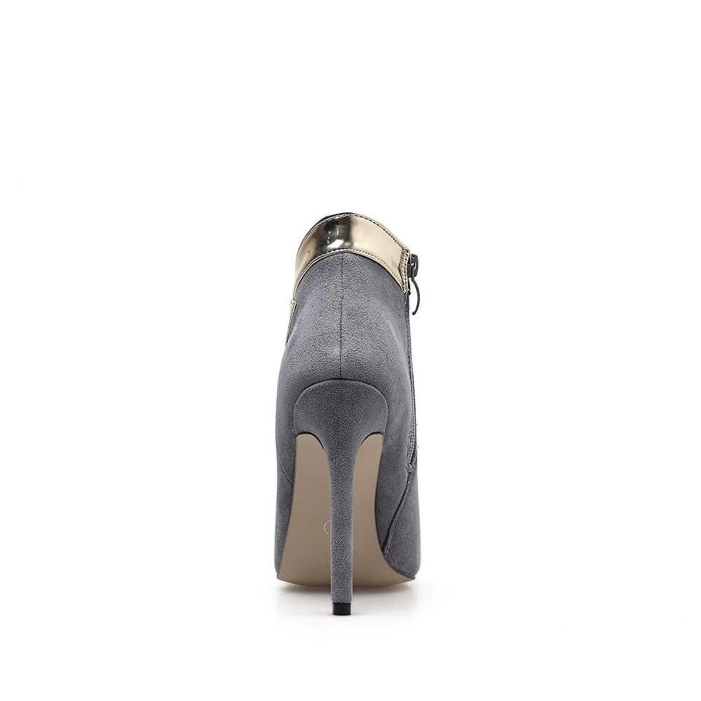 AIYKAZYSDL Kadınlar Seksi yarım çizmeler Patchwork Karışık Renk Çizmeler Akın Ayakkabı Yüksek Topuk Stilettos Sınırlı Elbise OL Ayakkabı Bahar
