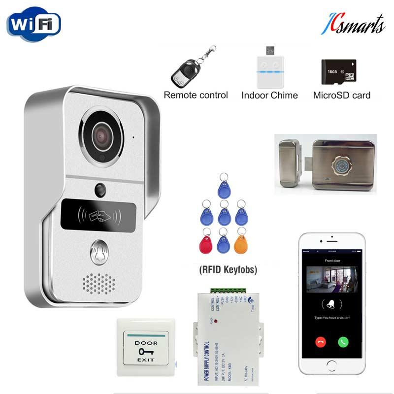 IR Infrared Door Access Wireless Wifi Camera Video Intercom Door Phone for font b Smartphone b