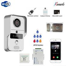 IR Infrared Door Access Wireless Wifi Camera Video Intercom Door Phone for Smartphone Remote View Unlock Mute Electric lock