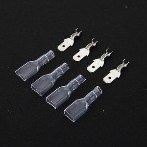 50 set 4.8 millimetri con trasparente guaina inserita primavera maschio connettore terminale di Ingresso Faston con isolante per filo