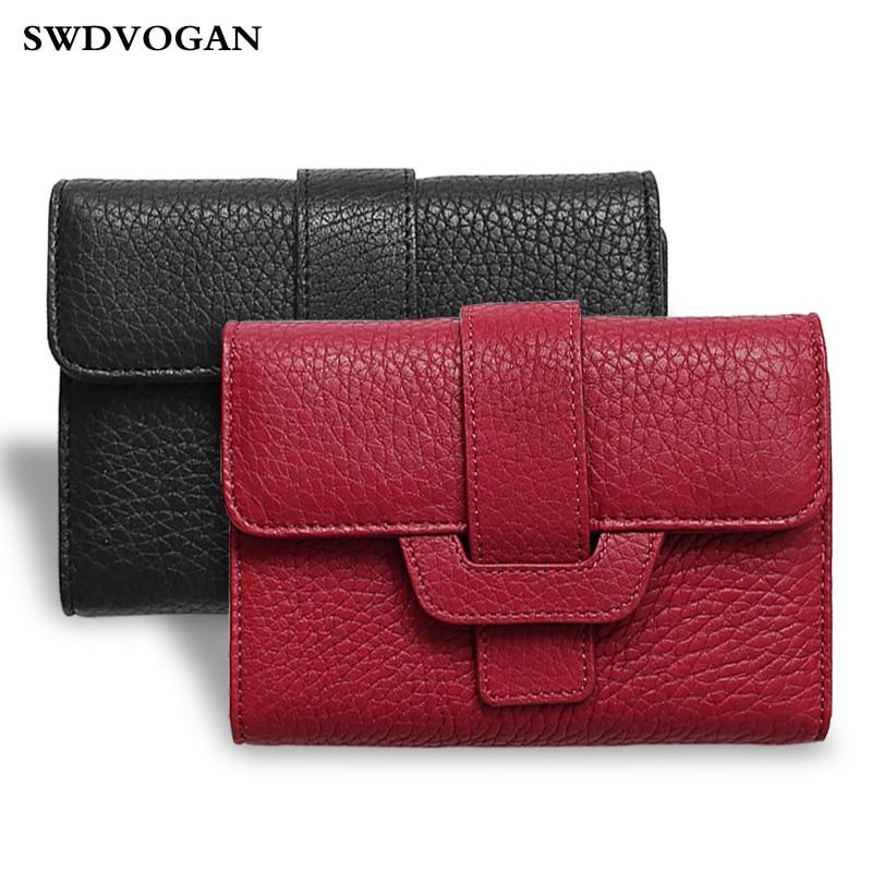 Wallet for Women Purse Business Card Holder Genuine Leather Wallet Female Clutch Bag Women Wallets Coin Purse Money Bag Carteras