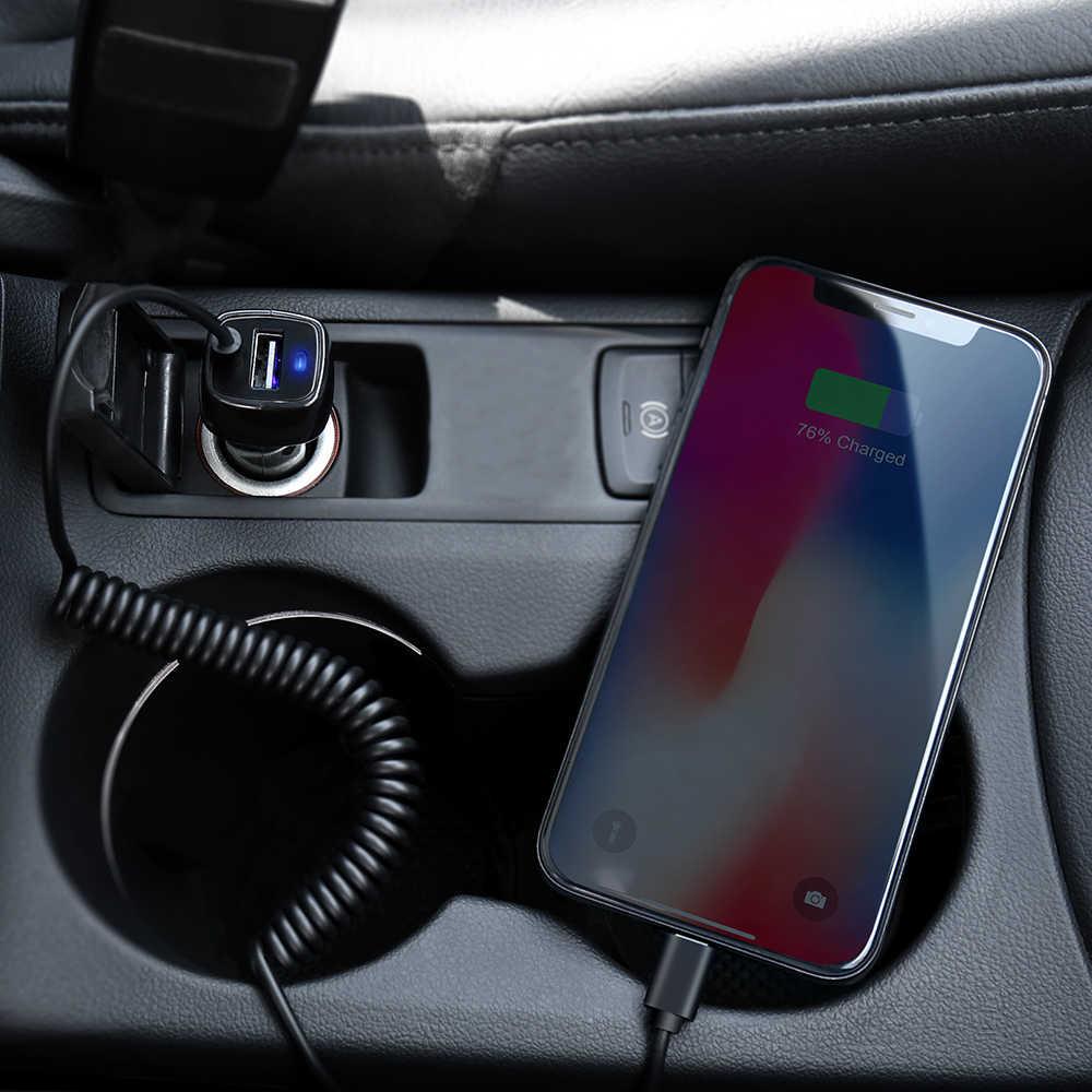 RAXFLY USB شاحن سيارة مع المصغّر USB نوع C الإضاءة كابل سيارة شحن ل iPhone X XR XSMax سيارة USB محول ل سامسونج S8 S9