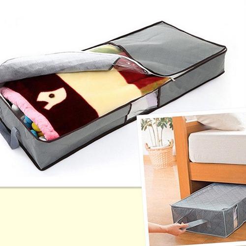 Organizer Storage-Bag Closure Quilt-Coat Duvet Fabric-Handle Under-Bed Zipped Home Carpet