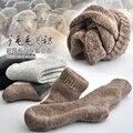 Inverno dos homens de Super grosso meias de lã cashmere de alta qualidade clássico homem marca negócio meias meias casuais dos homens de inverno 3 pares = 1 lote