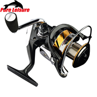 PureLeisure Quality Fishing Reel Knobs Fishing Reel 5.5:1 Strong Spool Saltwater Metal Spinning Fishing Reel Carp Distant Wheel
