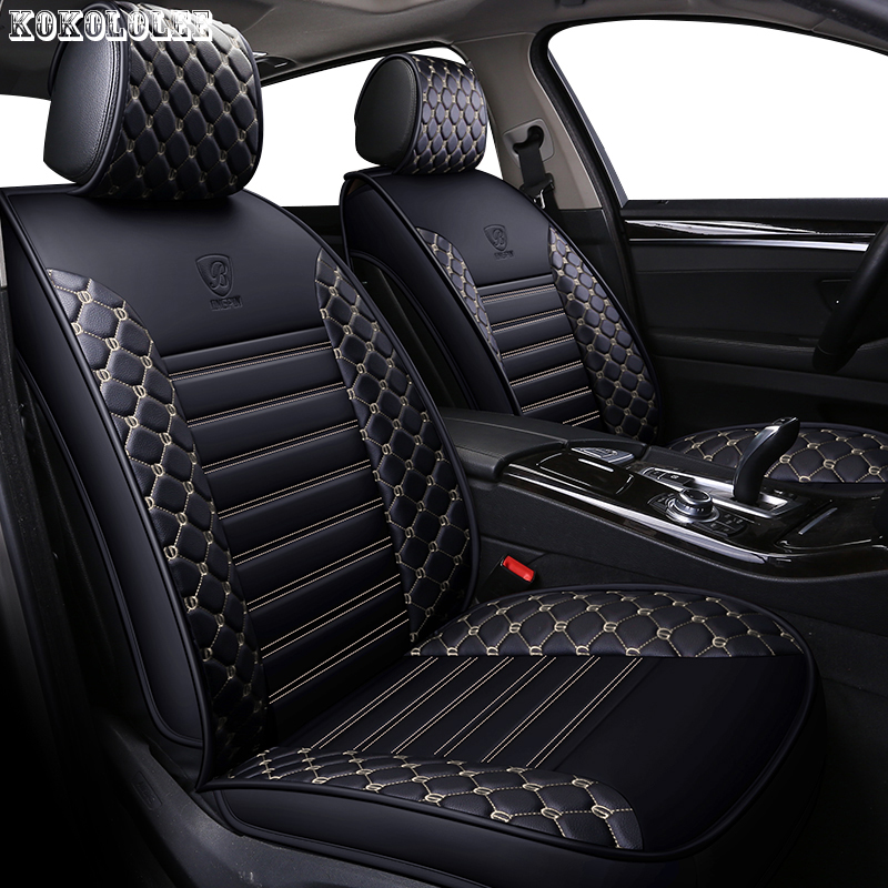 [kokololee] pu leather car seat covers for smart fortwo nissan juke byd f3 mitsubishi outlander jeep renegade auto accessories