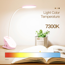 3 Modes Touch Switch Clip Desk Lamp, Eye Protection Dimmable Rechargeable USB Led Light