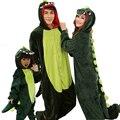 2017 комплектов пижамы взрослых пижамы Детей пижамы Фланелевые Мужская косплей костюм Животных динозавр onesies для взрослых пижамы женщин