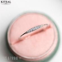 Kiteal Silver Rose Gold Wedding Engagement zircon Ring Simple Causal Rings Bijouterie For Women Lovers Fashion Jewelry