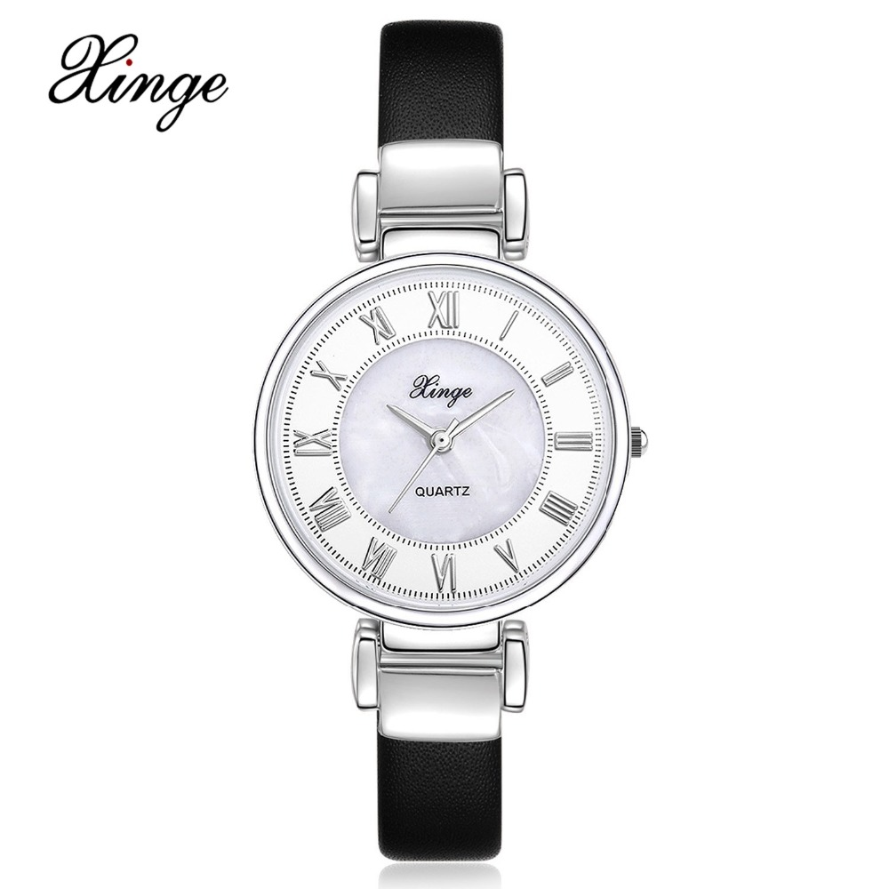 Xinge Brand 30M Waterproof Fashion Women Watches Leather Bands Sport WristWatch Clock Ladies Business Female Quartz Dress Watch xinge brand fashion women quartz wrsit watches clock leather strap business watch ladies silver luxury female sport womens watch