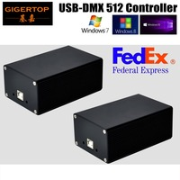 Freeshipping 2XLot DMX 512 USB Controller HD512 PC/SD Mode 3Pin XLR Support FreeStyler FlyPig,Martin,Sunlite,LumiDMX,grandMA