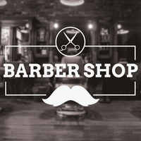 Barbershop Sign Haircuts and Shaves Vinyl Wall Decal Sticker Barber Shop Wall Decor Murals Art Design Window Men Hair Logo 3W11
