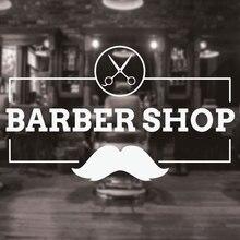 Barbershop Sign Haircuts and Shaves Vinyl Wall Decal Sticker Barber Shop Wall Decor Murals Art Design Window Men Hair Logo 3W11