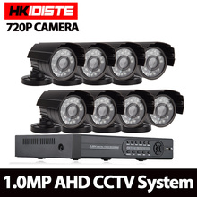 AHD 8CH 1080N HDMI DVR 2000TVL 720P HD Outdoor Security Camera System 8 Channel CCTV Surveillance DVR Kit AHD Camera Set NO HDD