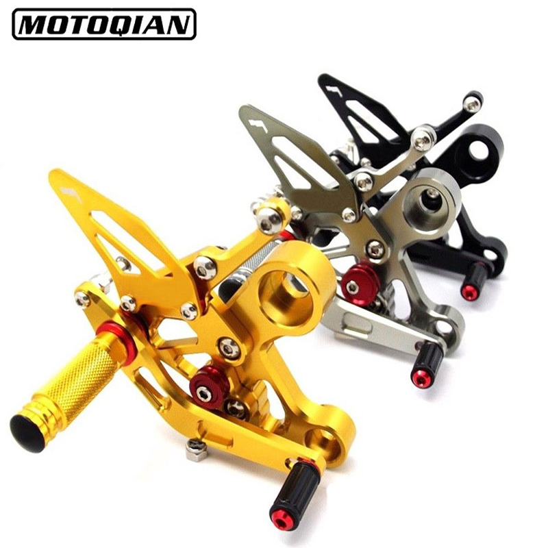 Adjustable Motorcycle Rearsets Rear Foot Pegs Pedal Footrest Set For Yamaha FZ09 MT09 Accessories CNC Aluminum Foot Parts