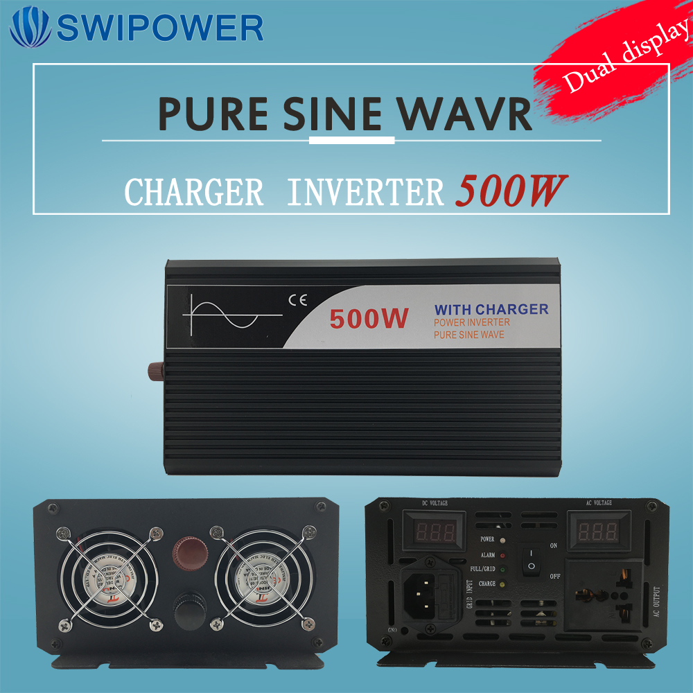 ups inverter 500W pure sine wave inverter with charger 12V 24V 48v DC to AC 220V 230V 240v solar power inverterups inverter 500W pure sine wave inverter with charger 12V 24V 48v DC to AC 220V 230V 240v solar power inverter